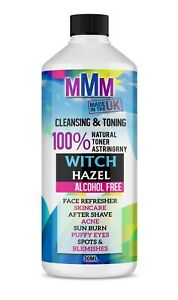 Witch Hazel Pure Natural Distilled Skincare Acne Face Toner Alcohl Free 30ml