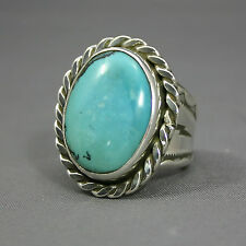 mine Jim Saunders Artist,Js-Rg-341 Mans Turquoise ring Carico Lake