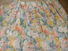 PROFESSIONALLY MADE FLORAL INTERLINED CURTAINS, TIE BACKS & PELMET - drop 118 cm