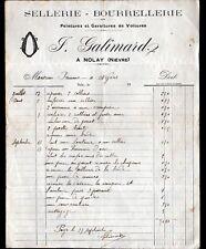 "NOLAY (58) SELLERIE BOURRELLERIE ""J. GALIMARD"" en 1900"
