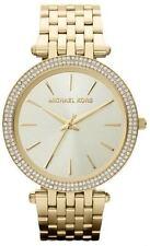 Michael Kors MK3191 Sleek Design, Full Yellow Gold Studded Bezel Watch for Women