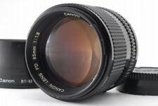 【B V.Good】 Canon New FD NFD 85mm f/1.8 MF Lens w/ Hood From JAPAN R3419