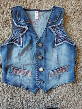 Vintage Pepe Decorate Vest Denim Size XS