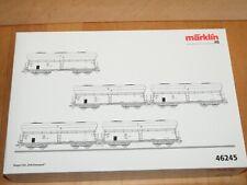 H0 Märklin 46245 Ensemble de Wagons Kokstransport Selbstentladewagen Non-Utilisé