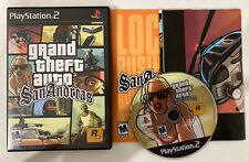 CIB Grand Theft Auto GTA San Andreas W/ Map Sony PS2 1st HOT COFFEE PlayStation