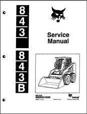 Bobcat 843 / 843B Skid Steer Loader Service Manual on a CD