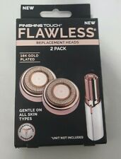 Finishing Touch Flawless Facial Hair Remover Replacement Heads 2 Count New