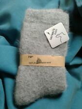 WOMENS     100%  ANGORA RABBIT  WOOL  SOCKS     SUPERSOFT    GRAY      NWT