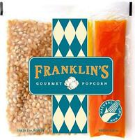 Franklin's Gourmet Popcorn All-In-One Pre-Measured Packs - 2oz. Pack of 10 -