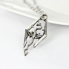 Elder Scrolls Skyrim Dragon Gamer Chain Pendant Necklace Charm Jewellery Gifts