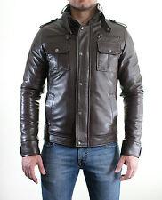 Giacca Giubbotto in di Pelle Uomo Men Leather Jacket Lederjacke der Männer M6MAR