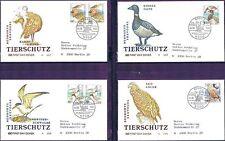 BRD 1991: Tierschutz!  FDC der Nr 1539-1542 mit Bonner Stempeln! Gelaufen! 1711