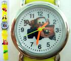 Disney Pixar Cars Mater Kids Boys Children 3D Quartz Wrist Watch Yellow