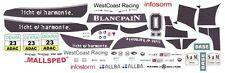 #23 BMW Z4 GT3 WestCoast Racing 2012 1/43rd Scale Slot Car WATERSLIDE DECALS