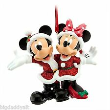 NEW Disney World Mickey & Minnie Santa Christmas Holiday Ornament Park Exclusive