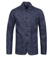 Edwin Union Blue Chambray Printed Denim Overshirt Medium BNWT RRP£140