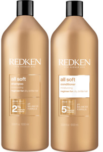 Redken All Soft Shampoo and Conditioner - DUO x2 1000ml Including Pumps