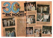 1985 DOCUMENT (ref Lim 0536)  les 30 ANS DE RIC HOCHET TIBET DUCHATEAU 2 pages