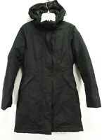 North Face Womens Black HyVent Goose Down Insulated Hooded Jacket Parka Coat XS