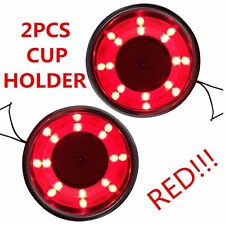 2PCS Stainless Steel Cup Drink Holder Red LED Built-in For Marine Boat Truck RV