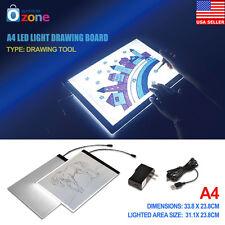 A4 LED Light Tracing Box Board Drawing Pad Art Stencil Table Tattoo USB Adapter
