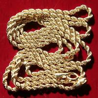 """Michael Anthony 10k yellow gold necklace 20.0"""" rope chain vintage  2.2gr"""