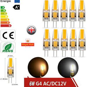 6W Dimmable G4 COB Bulb LED Socket Light AC/DC 12V for Replace Halogen Lamp UK