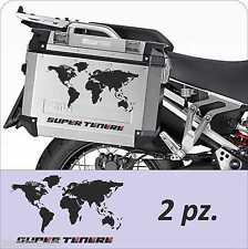 2 Adesivi Planisfero Moto Super Ten Valigie GIVI Trekker Outback Adventure