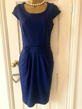 Super Cute, HOBBS Cobalt Blue, Soft Jersey Dress UK10 - Fabulous Condition!