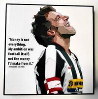 Alessandro Del Piero Football Soccer Juventus Pop Art Canvas Framed Wall Art
