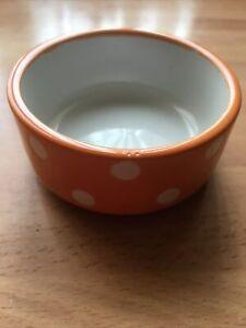 Trixie Ceramic Feeding Bowl Motif Water/Food For Hamster, Guinea Pig, ORANGE NEW
