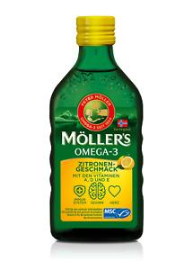 Möllers Omega 3 Zitrone Vitamin D A E Lebertran hochrein natürlich EPA DHA 250ml