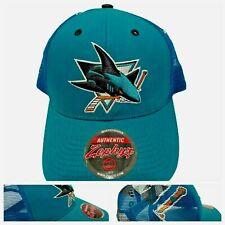 San Jose Sharks Hat NHL Hockey Snapback Cap Mesh Blue Vintage 1993 Zephyr NEW
