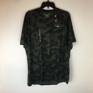 Under Armour Tech 2.0 Athletic Tee Shirt Men XL Loose Short Sleeve Heatgear Camo