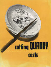Caterpillar Cutting Quarry Costs Booklet 1950s
