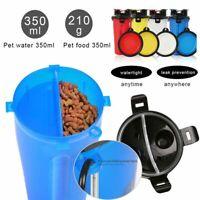 Storage Container Dog Food Dispenser Cat Feeder Bowl Pet Drinking Bottle