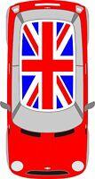 BMW Mini Union Jack Roof Decals Kit Mini Cooper Racing Vinyl Graphics NEW