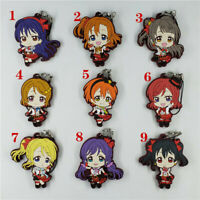 Anime LoveLive! Rubber keychain Key Ring Race Straps cosplay