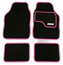 Full Black Carpet Car Floor Mats With Pink Boarder For Ford B-Max Fiesta, Focus,