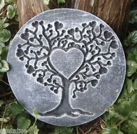 heart tree of life plaque mold concrete plaster mould