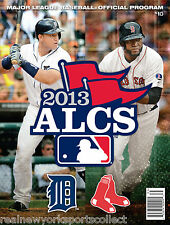 2013 ALCS BOSTON RED SOX VS DETROIT TIGERS OFFICIAL PROGRAM CABRERA ORTIZ