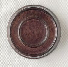 "3.25"" Brown Chinese Oriental Wooden Lid Cap Cover for Ginger Jar and Vases"