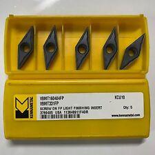 VBMT 16 04 04 FP (VBMT331FP) KCU10 KENNAMETAL CARBIDE INSERTS-Pack of 10