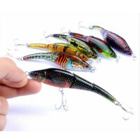 6x Colorful Plastic Fishing Lures Vibe Wobbler Bait Bass Bream Tackle Hook 9.5cm