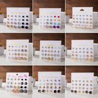 Fashion Crystal Zircon Pearl Flower Heart Ear Stud Earrings Women Jewellery Gift