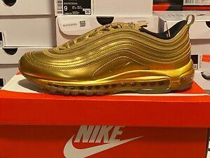"Nike Air Max 97 ""GOLD MEDEL"" Metallic Gold/Liquid Gold Size 12 CT4556-700. JIGGY"