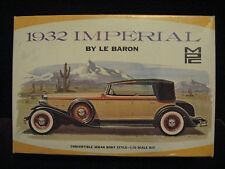 EXC VTG Orig '32 Chrysler Imperial Convertible Sedan MPC 232 USA Model/Kit A+++!