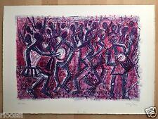 Eduard Bargheer Lithographie Africa Tam-Tam 1966  Ex.100/120 signiert 59x42cm