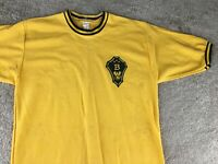 Vintage Velva Sheen Shirt National Beta Club Shirt Crest Yellow Black Eagle