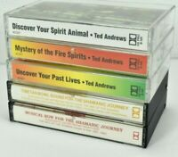 Lot of 5 Selection of New Age Spiritutal Cassettes Ted Andrews / M. Harer VG  C5